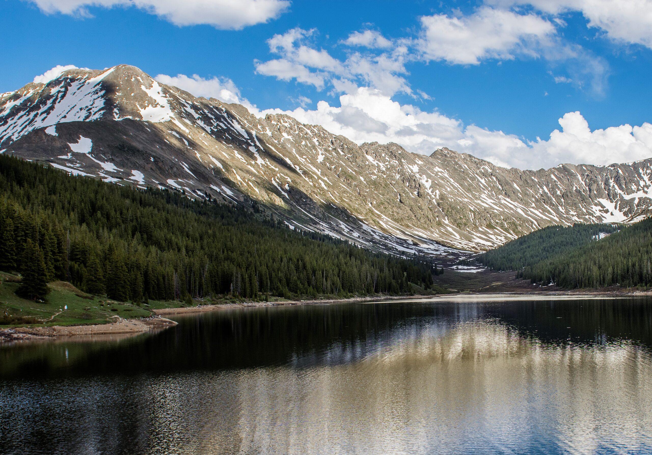 השתקפות ההרים באגם